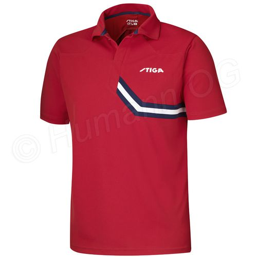 Shirt Conquer; red/blue