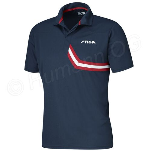 Shirt Conquer; navy/red