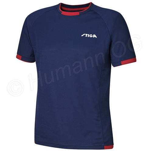 T-Shirt Capture, navy/rot